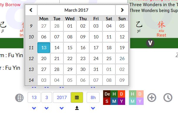 Qimen calendar